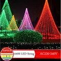 Novidade 600 leds 100 M pisca corda Iluminação para exterior/interior da Festa de Casamento da árvore de natal decoração Luzes de Fadas Cintilação