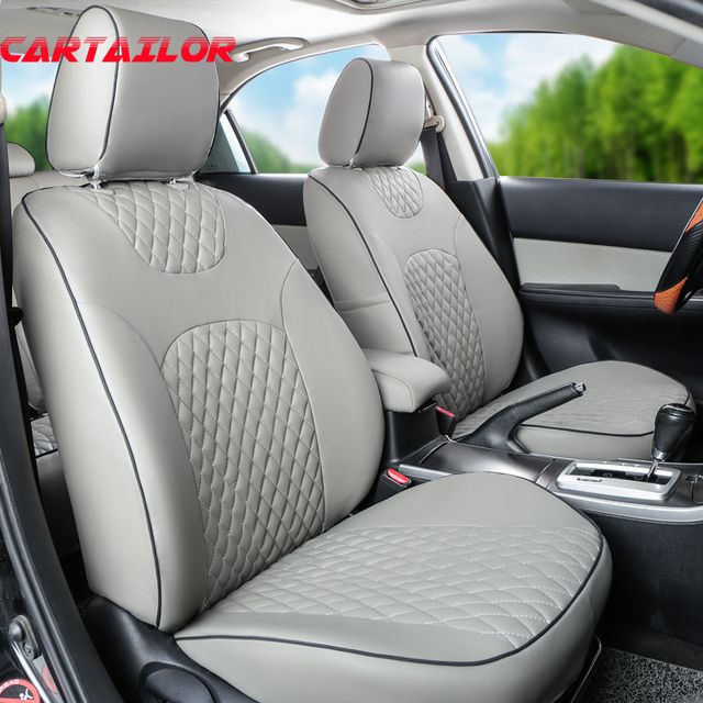 CARTAILOR PU Leather Cover Seats For Renault Megane Car Seat Covers Interior Accessirues Set Black Decorative