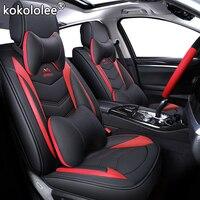 ( Front + Rear ) Luxury Leather car seat cover 4 Season For Renault Kadjar Koleos Captur Megane 2 3 Duster Kangoo Koloe styling