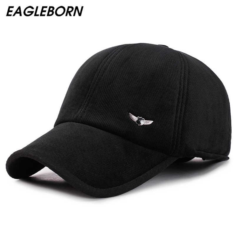 EAGLEBORN de terciopelo de algodón gorras de béisbol para los hombres de  las mujeres de ala a1b8fd5a758