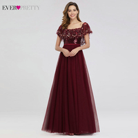 Luxury Prom Dresses Women Burgundy Party Gowns A Line Off The Shoulder Ruffles Tassel Sexy Sequined Formal Dresses Gala Jurken