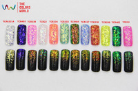 TCRT H2 American Fantasy Iridescent Rainbow Color Hexagon Shape Mix Size Glitter For Nail Art Or