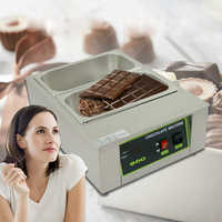 ITOP 8KG Capacity 2 Lattices With 2 Pans Digital Chocolate Melting Machine Stainless Steel Chocolate Melting Pots