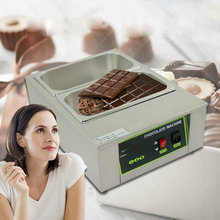 ITOP 8KG Capacity 2 Lattices With Pans Digital Chocolate Melting Machine Stainless Steel Pots