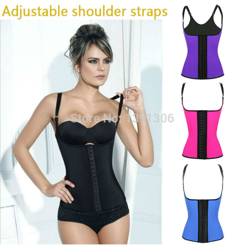 ce72828d853 New Free shipping latex waist trainer steel boned corset 3 hooks ann chery  latex waist cincher workout hourglass pink FYV005-in Bustiers   Corsets  from ...