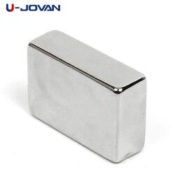 U-JOVAN 1 шт. 30x20x10 мм N50 Супер сильный редкоземельный магнит блок мощный неодимовый магнит холодильник