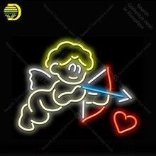 Sinal de néon cupido com amor sinal de luz néon lâmpada sinal de néon loja decoração lâmpada de néon dia das bruxas luminoso atarii dropshipping para venda