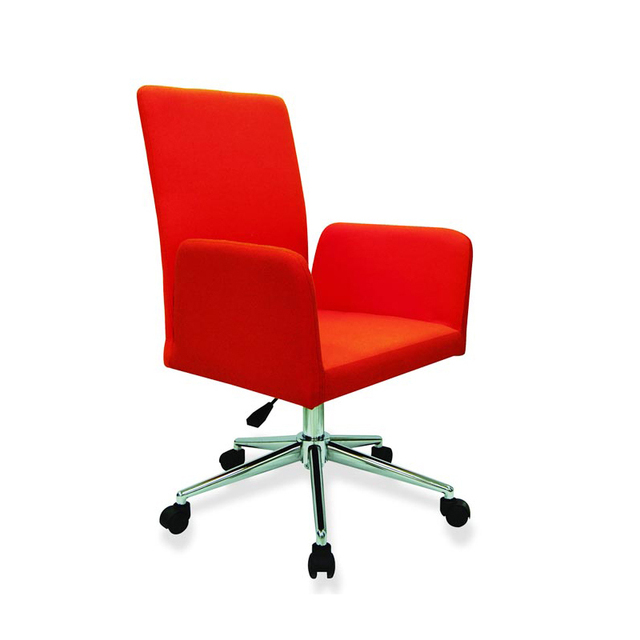 Cheap Ikea furniture minimalist red rotating ergonomic office chair