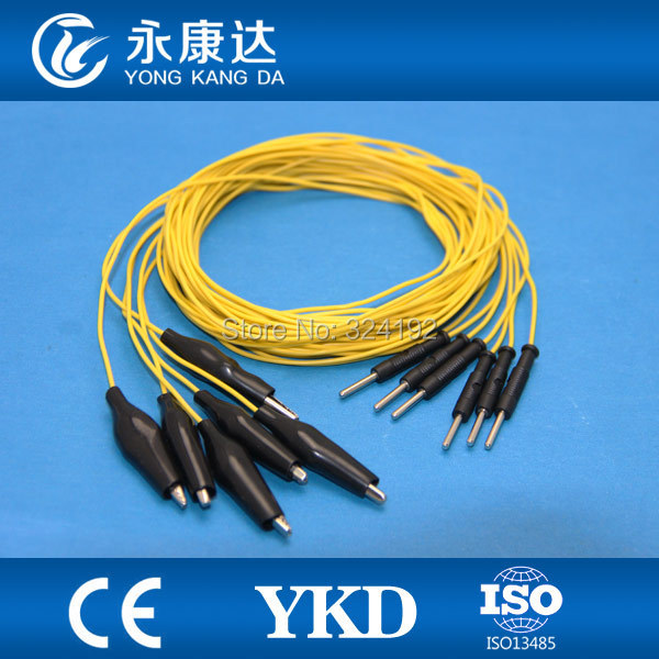 15pcs/pack Yellow Brain leadwires for medical Cup EEG cord