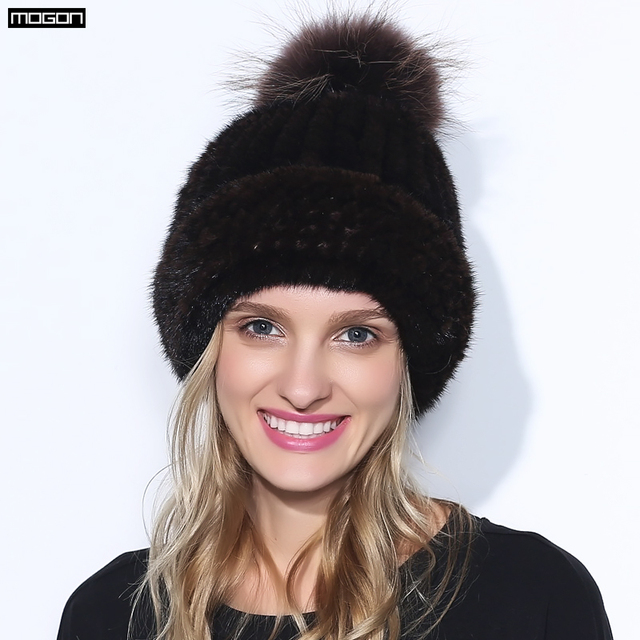 Женщины Новое Прибытие Специальное Предложение Для Взрослых Новый Мех Пом Англичане Шляпы для Зима Подлинная Норки Cap Роскошные Натуральные Волосы С 2016 Продажа