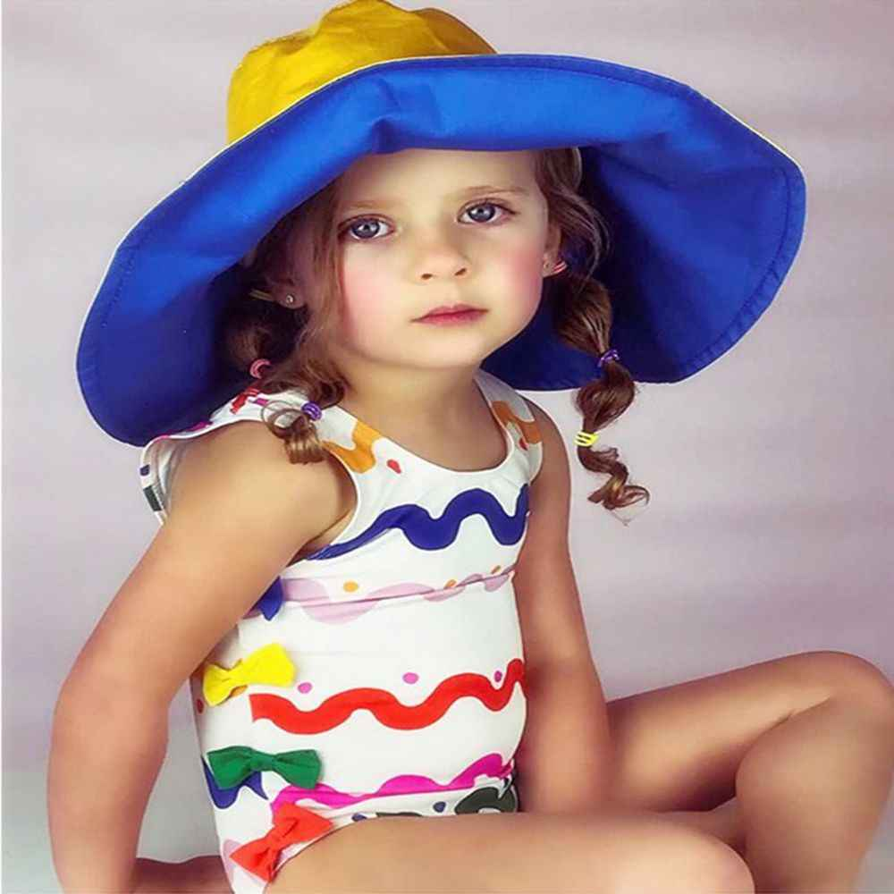 97ae819838a ... 2-6T Girls' Swimwear Rainbow Stripes Swimsuit For Girl One-Piece Swim  Rompers