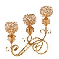 Роскошные подсвечники золото подсвечник канделябры растительный декор для свадеб Moroccan режима центр штук Менора Mumluk 6