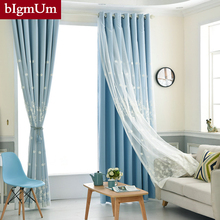 New Style Window Curtains For Living Room Bedroom Blackout Windows Drapes Of  Pastoral Modern Embroidered Tulle curtain Cortinas