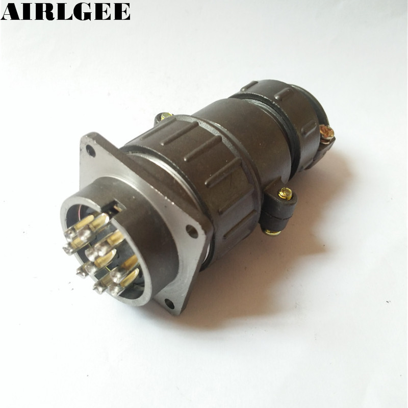 P32K11Q AC 250V 25A 10 Pins Circular Aviation Connector Free shippingP32K11Q AC 250V 25A 10 Pins Circular Aviation Connector Free shipping