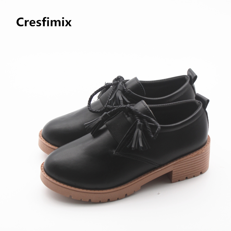 Cresfimix zapatos de mujer women casual soft pu leather spring & autumn shoes lady leisure height increased shoes cool shoes cresfimix zapatos de mujer women casual spring