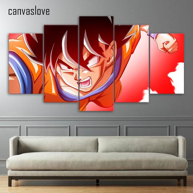 5 Piece Canvas Art HD Print Dragon Ball Super Fighter Goku Picture  Paintings For Living Room Part 79