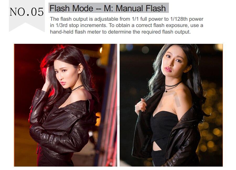 Câmera TTL Speedlite Flash para fuji Câmera