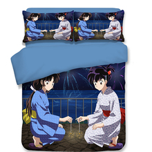 Japan Anime InuYasha printed Duvet Cover Set 3D Bedding Luxury Comforter Bed Sets Include 1 and 2 pillowcase