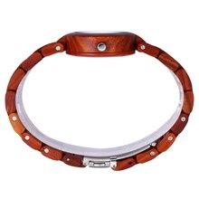 SKONE Female Eco Natural Handmade Sandalwood Maple Wooden Watches Women Fashion  Quartz Lady Dress Wrist Watch Girls 2016