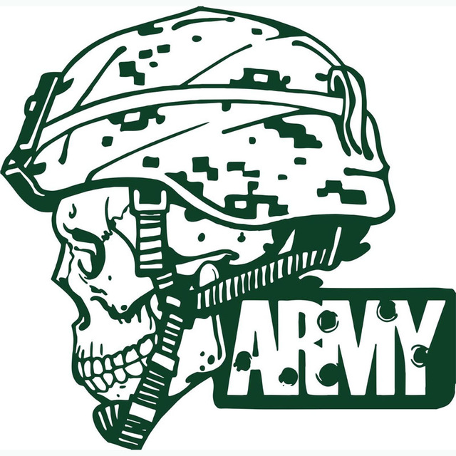 Free Shipping Big Army Military Soldier Skull Camo Pattern Art ...