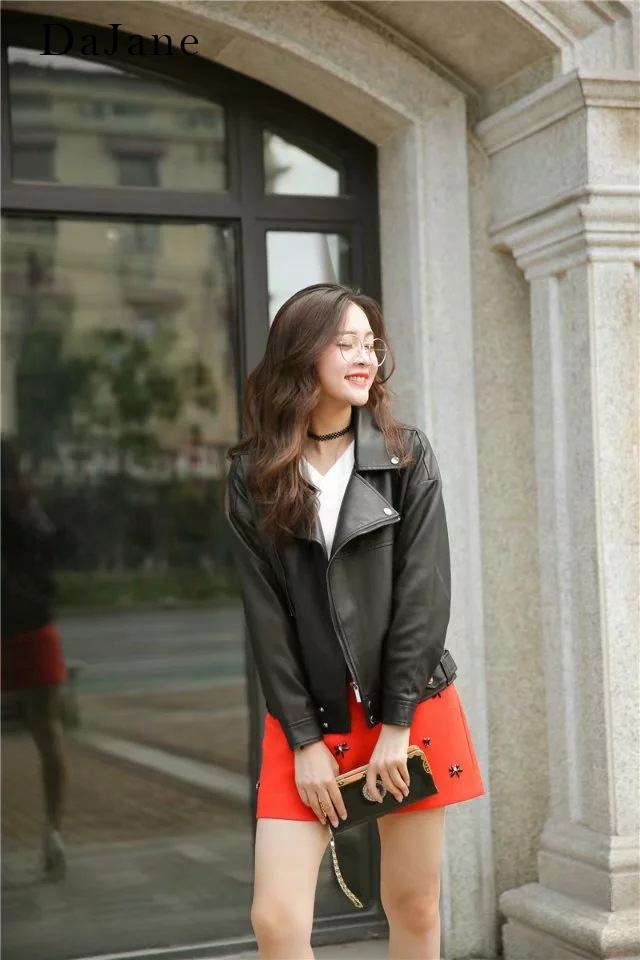 Autumn New women's PU   Leather     Leather   Jacket Jacket Fashion Wild   Leather   Jacket Women