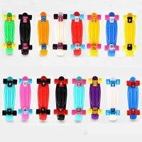 21 Skateboard Pastel Skate Board Scooter Style Colorful Decks Retro Cruiser Complete Skateboard Bearing ABEC 7