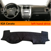 Hot Selling Left Hand Dirve Exquisite Style Car Dashboard Mat For KIA Cerato Avoid Light Mat