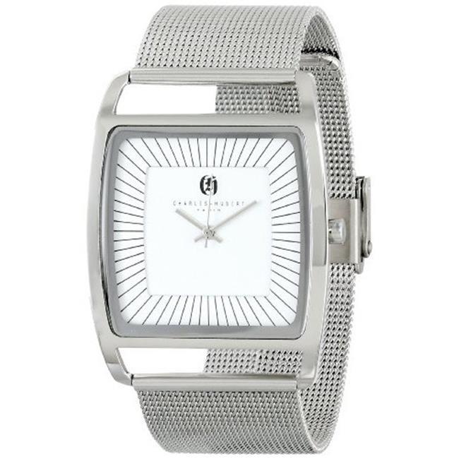 Unitron Enterprise 3942-W Mens Stainless Steel White Dial Milanese Band Watch white ceramics band design mens leisure watch