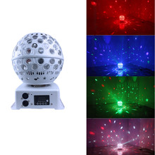 цены LED Laser Stage Light Lantern Magic Ball Dj Disco Light DMX512  Projector RGB Effect Lamp Lights Music Christmas KTV Party Bar