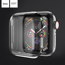 HOCO Ultra-thin TPU Screen Protector Case Cover Shell for Apple Watch 5 Full Clear Soft IWatch Series 4 case 40mm 44mm
