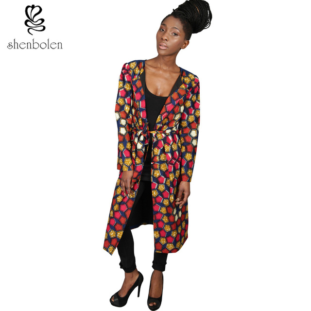 4609f1afb9 spring autumn winter 2016 Women long Coat African clothing ankara wax batik  print long sleeve overcoat pure cotton free shipping-in Africa Clothing ...
