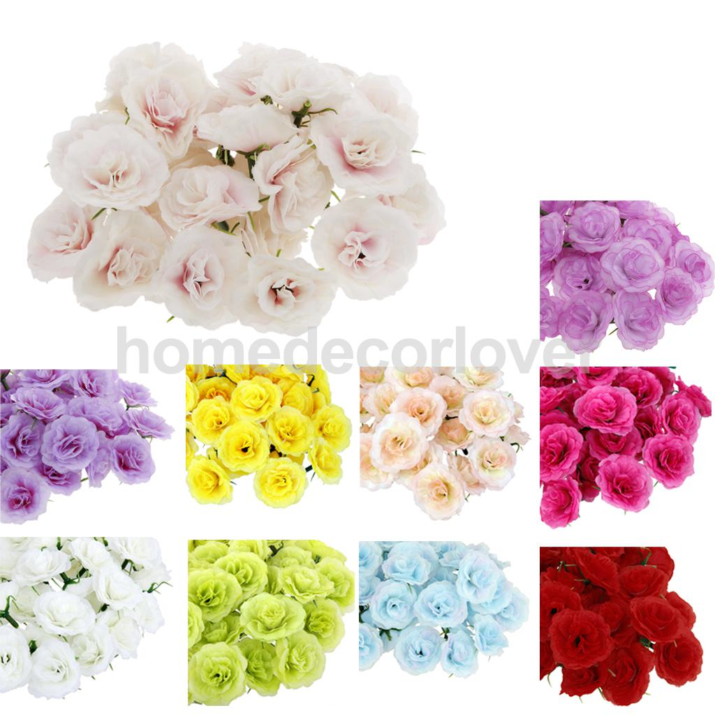 Compare prices on silk flower heads bulk online shoppingbuy low 50x artificial faux silk rose flower heads bulk wedding party decorchina dhlflorist Choice Image