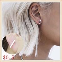 2015-New-Fashion-Gold-Silver-Simple-T-Bar-Earrings-For-Women-Ear-Stud-Fine-Jewelry-Wholesale