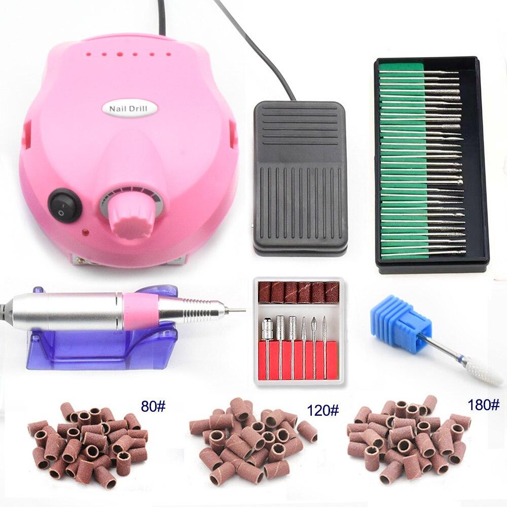 35000 Rpm 15 W Elektrische Nagel Bohren Maniküre Maschine Set Pediküre Werkzeuge Nagel Zubehör Werkzeuge Nagel Datei Bohrer Nagel Bohrer Bit