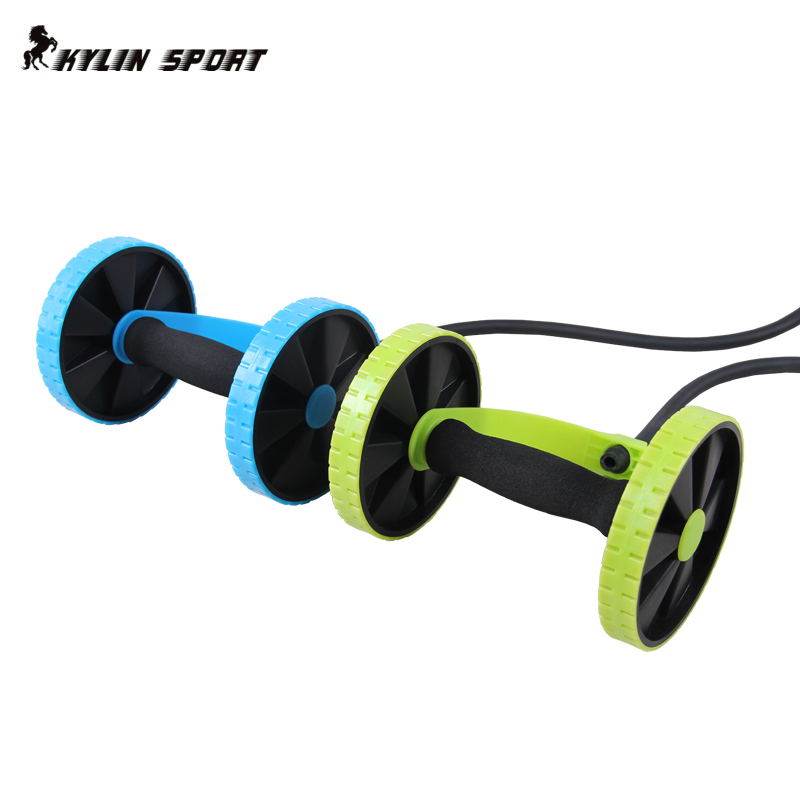 Sports abdominal fitness equipment Core Double Power AB roller trainer wheels fitness Abdominal body building and exercises home in Ab Rollers from Sports Entertainment