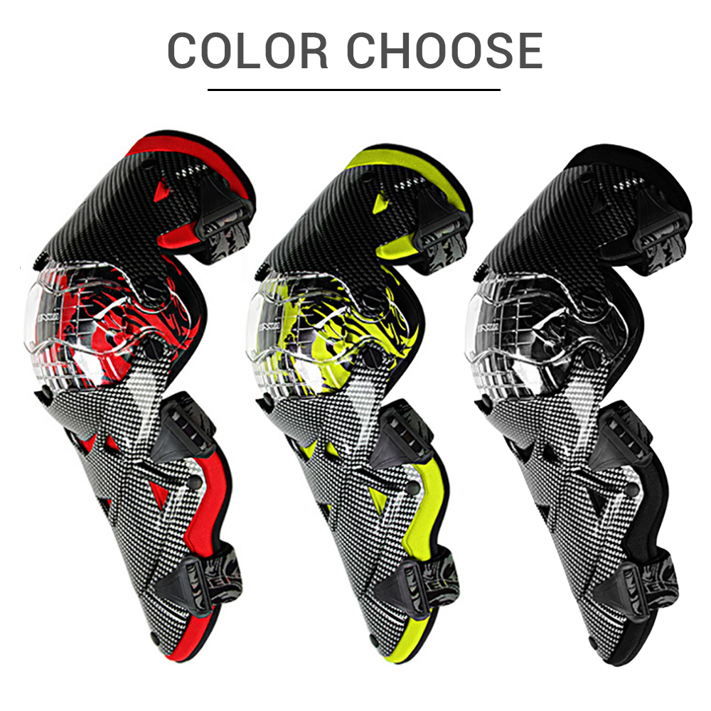 Image 3 - BENKIA Motorcycle Knee Pad Protective Gear PC Shell Moto 