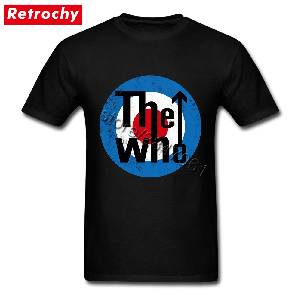 1980's Rock and Roll Tee   Shirts   Men's Cheap Brand Vintage The Who   T     Shirt   Tees   Shirt   Valentines gifts Big Size   T  -  Shirts