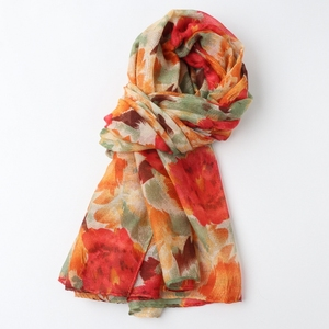 Image 5 - חתיכה אחת נשים פרחוני מודפס חיג אב צעיף oversize ויסקוזה צעיף ראש כורכת רך ארוך שבטי המוסלמי hijabs גנב