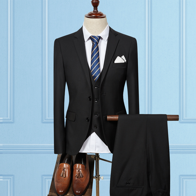 Costumes bleu Cérémonie Qualité Occasionnels Noir Pantalon Fit Haute Hommes ivoire pourpre gris Slim Mens D'affaires Avec Pantalon veste Vêtements Mariage Des De rouge Un Gilet n4qpZXF