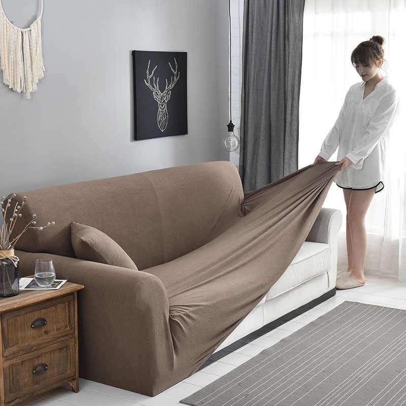 Corduroy Sofa Cover Thick Stripe