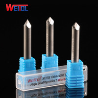 Weitol free shipping 1pc 6mm Diamond Multiple Engraving Bits PCD CNC router bits for marble, granite, bluestone milling cutter