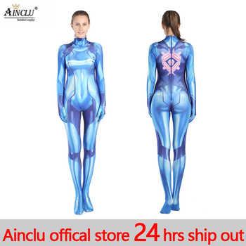 เซ็กซี่ผู้หญิง Samus Aran เกมเครื่องแต่งกาย Zentai Catsuit บอดี้สูทผู้ใหญ่เด็ก Super Hero ฮาโลวีน 3D พิมพ์ชุดคอสเพลย์ Jumpsuits - DISCOUNT ITEM  6% OFF การใช้แบบแปลกใหม่และการใช้แบบพิเศษ
