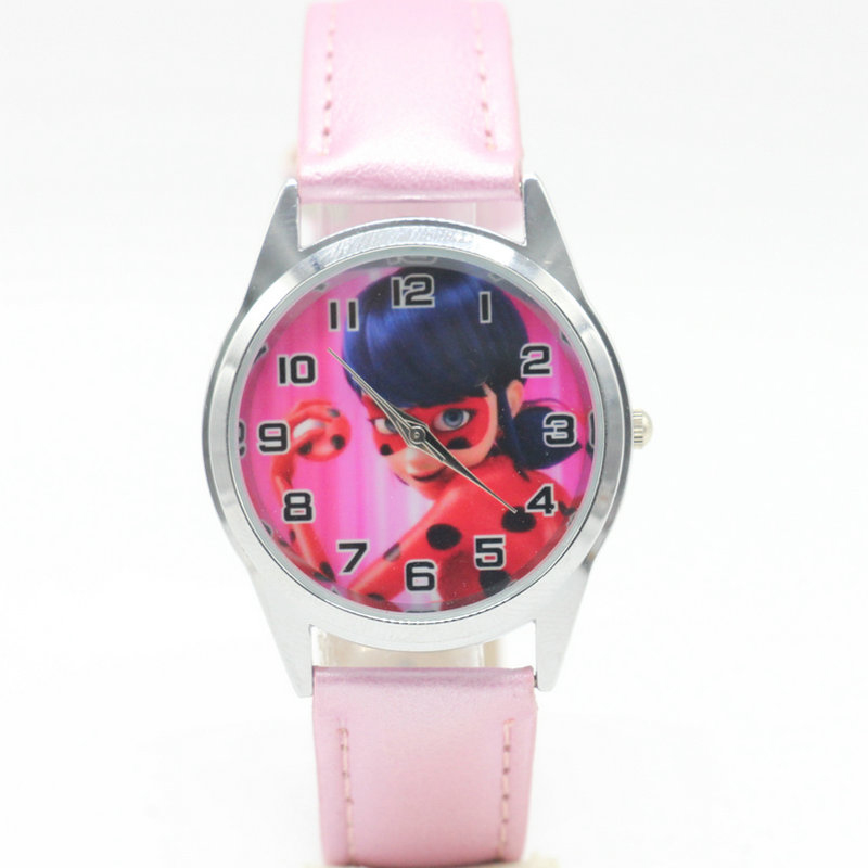 Free Shipping New Fashion Miraculous Ladybug Watches Children Kids Boys Gift Watch Casual Quartz Wristwatch