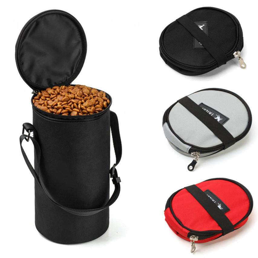TAILUP New Collapsible Dog Travel Bowl High Quality Pet Hamster Dry Food Container Waterproof Bag travel bowl