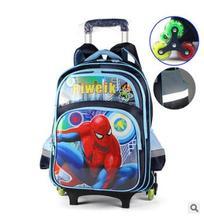Kinder Rollende rucksack für die schule kinder schule Rucksack auf rädern Cartoon Kinder Reise Trolley gepäck Fall Taschen Trolley