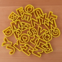 26pcs/set Letters Cookie Mould Plastic Sugar Fondant Cake Mold Biscuit Cookie Cutters Cookie Tools