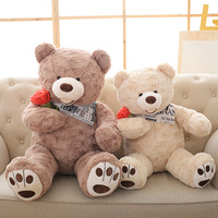 65CM Soft PP Cotton Stuffed American Bear Plush Toy Doll Wear Clothes Big Teddy Bears Plush Toys Girlfriends Christmas Present