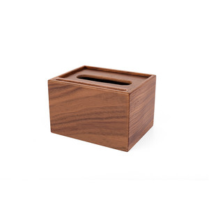 Image 3 - Wooden multi function tissue box walnut storage box hotel tray creative living room decoration mobile phone holder
