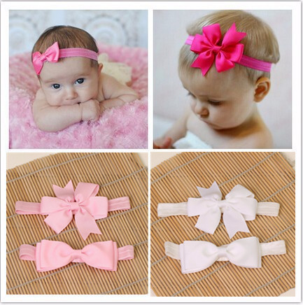 2pcs/set ribbon hair accessories elastic ribbon bows kids hair tie headband girls bow headbands flower hairband headwear turban