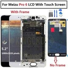 """5.2 """"Amoled Meizu Pro 6 M570M M570C M570Q M570h wyświetlacz Lcd z szkło dotykowe Digitizer zamienny zestaw ramy Meizu Pro 6s"""
